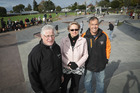 Western BOP mayor Garry Webber (left) with skatepark project members Karyl Gunn-Thomas and Richard Crawford at the official opening. Photo/Andrew Warner