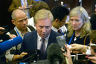 Trade Minister Todd McClay at the end of the TPP meeting in Vietnam.  Photo / AAP