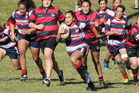 Rotoiti's Polly Playle makes a break in the game against Waimana on Sunday. PHOTO/ANDREW WARNER. 210517aw09DP.JPG