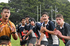 TOTAL FOCUS: Tauranga Boys and Manurewa forwards line up for a lineout in Saturday's Chiefs Cup clash. PHOTO: SUPPLIED
