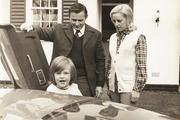 Bruce McLaren with his family.