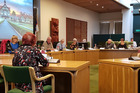 The Rotorua Lakes Council met yesterday to hear what locals thought of its annual plan. Photo/Matthew Martin