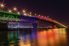An artist's impression of the bridge in lights. Photo / Supplied