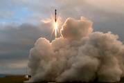 The Rocket Lab first successful launch of their test rocket from the Mahia Peninsula. Photo / Supplied
