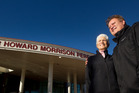 Howard Morrison Jnr with mother Lady Kuia Morrison. Photograph by Ben Fraser