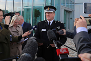 Greater Manchester Police Chief Constable Ian Hopkins speaks to the media in Manchester. Photo / AP