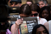 A minute's silence is observed in a Manchester square after the suicide attack that left more Photo / AP