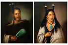 The portraits of  Chief Ngatai-Raure and Chieftainess Ngatai-Raure were painted by Gottfried Lindauer in 1884.