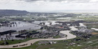 The Rangitaiki River burst into the township of Edgecumbe in April, forcing a massive evacuation. Photo / Andrew Warner.