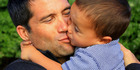 Dr Lance O'Sullivan with his son Lance junior. Photo / file