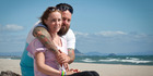 Brett Morrison with his wife Sarah, 32, who died from bowel cancer two years ago. Photo/File