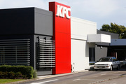 A video has been made of a drone flying through the KFC drive-thru at Lynfield and collecting an order.