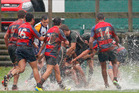 SODDEN GROUNDS: Conditions were tough for Baywide rugby on Saturday afternoon. PHOTO: File
