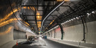 The Northern Tunnel of the Waterview Connection tunnel project in Auckland. Photo / Greg Bowker