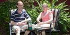 David Bain with his wife Liz Davies at their home in Christchurch in 2012. Photo / Jason Boa
