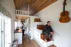 Tom and Shaye Wilson in their Tiny House in Oratia, Auckland. Photo/file
