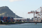 Port of Tauranga, where a chemical leak in a container hospitalised five men. Photo/File