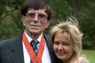Earl Hagaman, with wife Lani in 2014. Photo / Brett Phibbs