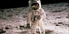 Neil Armstrong's iconic photograph of Edwin 'Buzz' Aldrin from the 1969 Apollo 11 mission which saw the first crew to land on the moon.