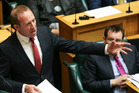 Labour leader Andrew Little speaking during the Budget debate. PHOTO/Getty