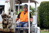 Busy Loosie: Fale Matamata on the job as a machine operator for City Care Ltd. Photo/Duncan Brown