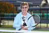 Dorothy Lumsden, 79, with the Bev Evans Trophy for her almost four decades of service to the code from Tennis New Zealand Seniors. PHOTO/Duncan Brown
