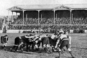 The Anglo-Welsh Lions of 1908 lost the third and final test, played at Alexandra Park in Auckland, 29-0.