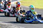 Dylan Drysdale (#1) won the KZ2 class at the weekend's Rotax Max/ProKart kart series meeting at Kartsport Rotorua meeting. Photo: ProShotz/Graham Hughes.
