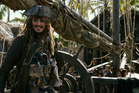 Johnny Depp as Captain Jack Sparrow in Pirates of the Caribbean: Dead Men Tell No Tales.