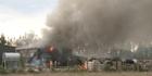 Watch: Crews fight honey factory fire
