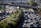 The Southern Motorway at a crawl - could you make it from Auckland Central to Manukau in an hour?