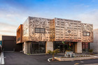The architecturally-designed office and warehouse building at 213 Lichfield St, Christchurch. Photo / Supplied