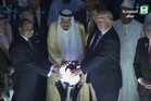 Opening the Centre for Combating Extremist Ideology in Riyadh, (from left) Egyptian President Abdel-fattah al-Sisi, Saudi King Salman and Donald Trump place their hands on globe in a gesture of unity.