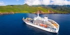 The Aranui 5 cruise-freighter ship.