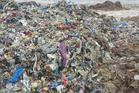 Versova beach before the clean-up. Photo / Twitter