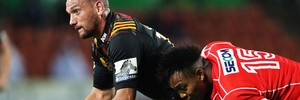 Aaron Cruden and the Chiefs must continue winning to keep their destiny in their own hands. Photo / Photosport