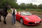 Wealthy landlord Zahid Khan had his Ferrari seized and crushed. Photo/Facebook