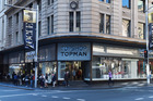 The CBD Topshop store front in Sydney. Photo/AAP