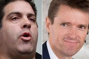 Cameron Slater, left, and Colin Craig.