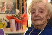 Olive Ford celebrates her 104th birthday yesterday. PHOTO: GREGOR RICHARDSON