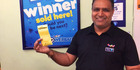 The winning ticket was sold at the Martina Four Square store in Thames. Photo/Supplied