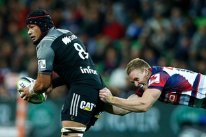 """Crusaders loose forward Jordan Taufua is """"one of the most under-rated players in the country"""". Photo / Getty Images"""