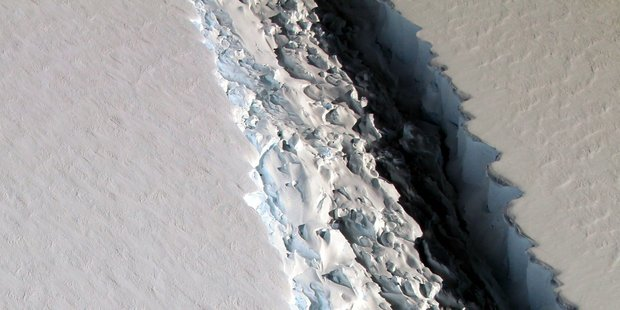 Scientists say Antarctic shelf close to calving huge iceberg