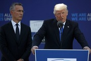 The G-7 summit came after Trump confounded hosts at NATO headquarters in Brussels earlier in the week. The appearance was described as a 'disaster' by more than one European official. Photo/AP
