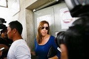 Mercedes Corby and her husband Wayan Widyartha leave Kerobokan Jail after visiting her sister Schapelle Corby on February 7, 2014. Photo / Getty Images