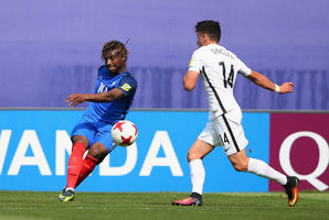 Allan Saint-Maximin of France scores his second goal. Photo / Getty