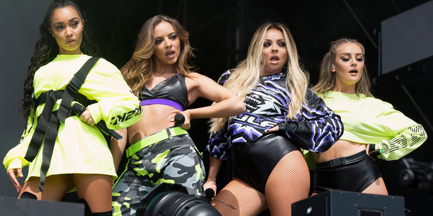 Leigh-Anne Pinnock, Jade Thirwall, Jesy Nelson and Perrie Edwards of Little Mix perform at BBC Radio 1's Big Weekend. Photo/Getty