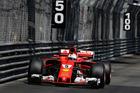 Sebastian Vettel on his way to winning the Monaco Grand Prix. Photo / Getty Images