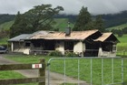 The house was severely damaged by the fire. Photo/Supplied