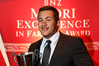 Jordan Biddle, of Raupunga, after winning the Young Farmer award at the Ahuwhenua Maori Excellence in Farming Awards in Whangarei on Friday. PHOTO/JOHN COWPLAND, Alphapix